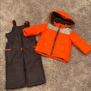 Carter's two pieces puffer and snow pants sz2t